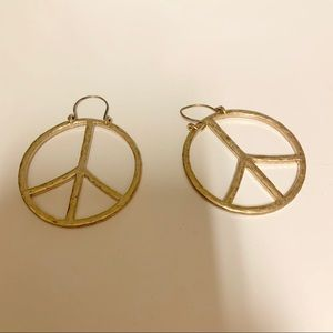 Lucky Brand Peace Sign Earrings